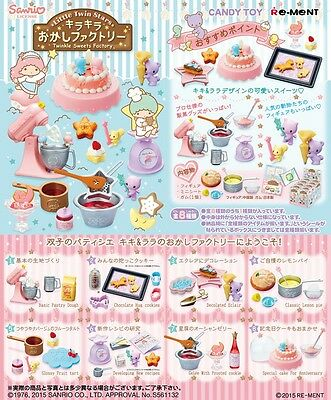 Re-Ment Sanrio Little Twin Stars Twinkle Sweets Factory Full set of 8 pcs