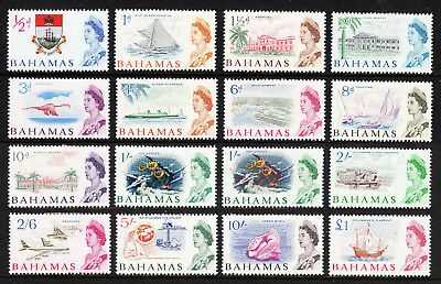 Bahamas — Scott 204-218 (Sg 248-261) — 1965 Qeii Definitive Set — Mh —Scv $41.30