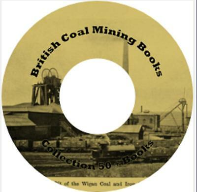 British Coal Mining Books Collection 50+ Books on DVD Coalfields Pit disasters