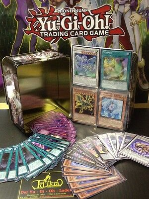 Yu-Gi-OH 200 Karten in Tin Box  190 Common - 5 Rare - 5  Holos  Neu