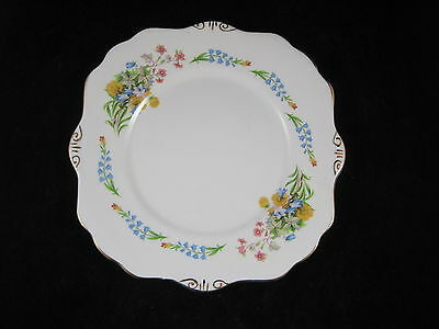 Pretty Royal Stafford Spring Flowers Cake Plate