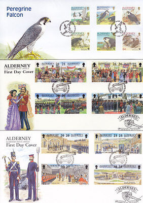 Alderney 1999/2000 Commemoratives Complete On 9 First Day Cover