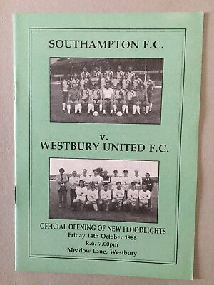 WESTBURY v SOUTHAMPTON ( Opening Of Lights ) 1988.