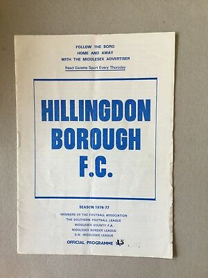 HILLINGDON BOROUGH v WATFORD ( FAC ) 1976/7.