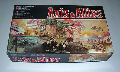 AXIS ALLIES Milton Gamemaster 1987 exc. bilingual rules eng. French war game