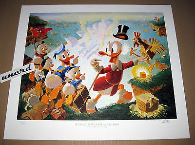 Carl Barks Litho: Return to Plain Awful - Vorstudie, nummeriert + signiert