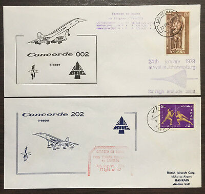 Pair BA / CARRIED ON BOARD Concorde G-BBDG & G-BSST 1973-1974