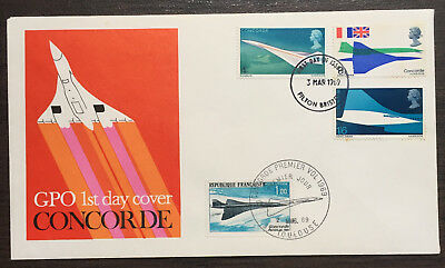Concorde 1969 Scarce Double dated Filton Bristol/French Toulouse s/pmks