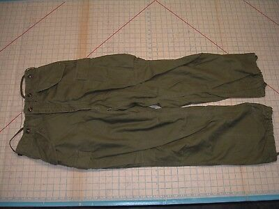Korean War Era M-1951 Field Trousers SHELL Pants US Army Small Regular EUC 1952