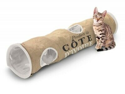 Langer Katzentunnel Cat Tunnel Rascheltunnel 120x25x25cm JUTE D&D HOMECOLLECTION