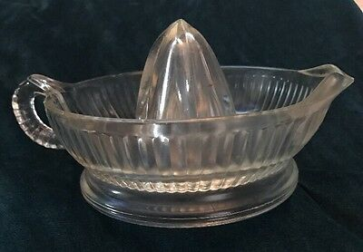 Vintage Clear Glass Fruit Juicer With Handle