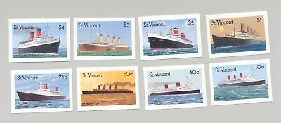 St Vincent #1173-1180 Cruise Ships 8v Imperf Proofs