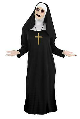Adults Unisex Black Valak Demon Nun Costume The Conjuring Halloween Fancy Dress