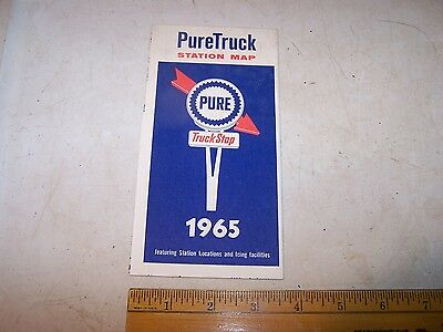 1965 PURETRUCK Truck Stop PURE Gas & Oil Service Station Location MAP
