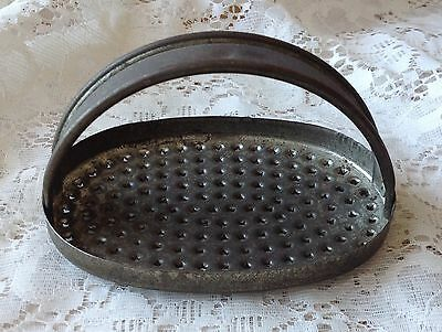 Antique Tin Metal Cheese Grater