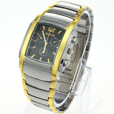 Brand New Luxury Golden Man Quartz Wristwatch Stainless Steel Xmas Gifts NG11