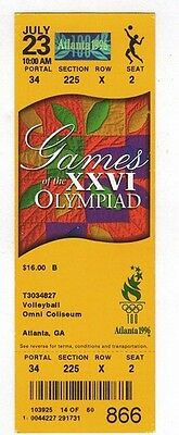Ticket Olympic Games ATLANTA 23.07.1996 VOLLEYBALL