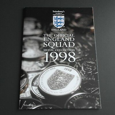 The Official England Squad 1998 Sainsbury's Coin book Collection