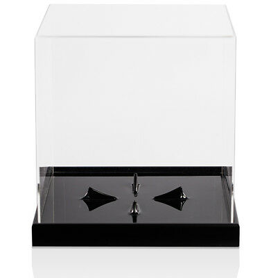 Football Acrylic Cube Display Case With Ball Holder Base Autograph