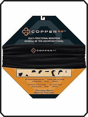 Copper 88 High Performance Multi Functional 8 Position Headwear Cool Cloth