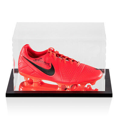 Andres Iniesta Signed Nike Football Boot In Acrylic Display Case Autograph