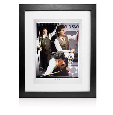 Framed Jimmy White Hand Signed Snooker Photo Montage  Autograph
