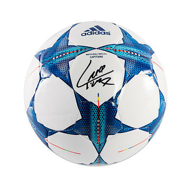 Luis Suarez Signed 2015-16 UEFA Champions League Football Autograph