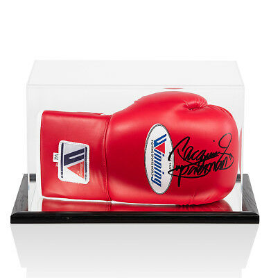 Manny Pacquiao Signed Boxing Glove Red - In Acrylic Display Case Autograph