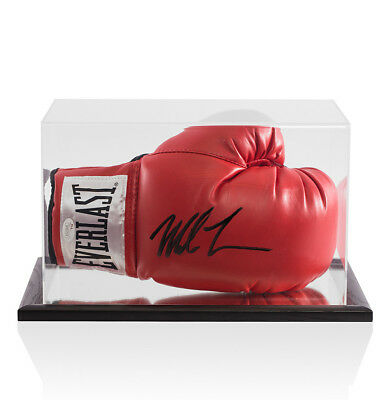 Mike Tyson Signed Red Everlast Boxing Glove - In Acrylic Display Case