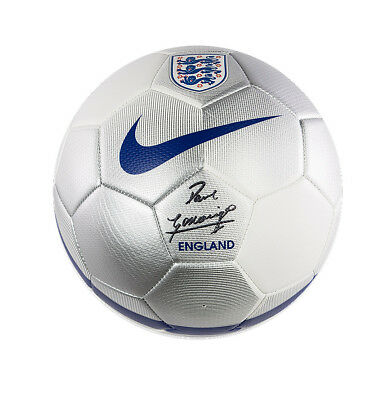 Paul Gascoigne Signed Football - England Autograph