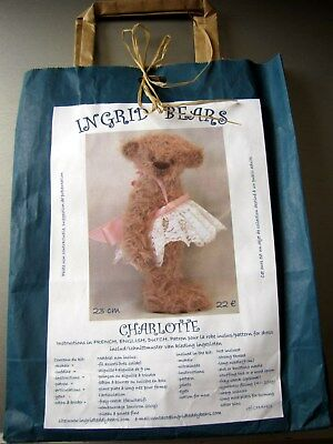 Neuf Kit Ours Nounours A Coudre Teddy Bear 23 Cm, Charlotte  Mohair