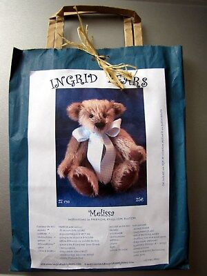 Neuf Kit Ours Nounours A Coudre Teddy Bear 27 Cm, Melissa  Mohair
