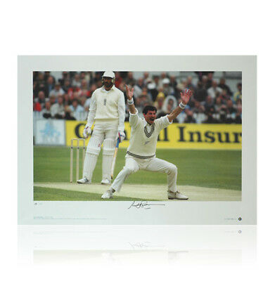 Sir Richard Hadlee signed print - Master of Rhythm and Swing Autograph