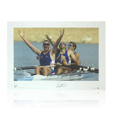 Matthew Pinsent signed print - Olympic Gold Autograph