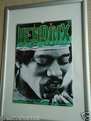 Jimi Hendrix Calendar 2000 Original Vintage 16Yrs Old Rare Valuable Unopened Gem