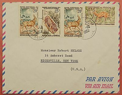1962 Senegal Multi Franked Airmail Cover To Usa