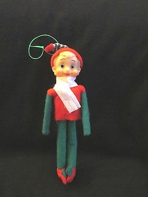 Vtg Xmas Rare Elf--Fancy Doll/japan--Ornament--Very Cute!!!