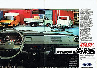 Publicité Advertising 107  1983  Ford Transit  (2p) camping- car