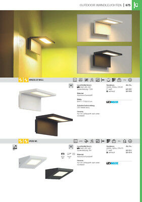 SLV231351 ANGOLUX WALL, Outdoor Wandleuchte, LED, 3000K, IP44, weiß, 36 SMD ...