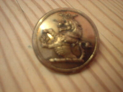 Large Antique  Livery Button - Crowned Lion Holding Shield ???