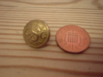 Small Antique  Livery Button
