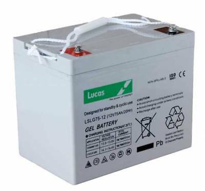 LSLC75-12 Lucas Sealed Lead Acid Battery 75Ah