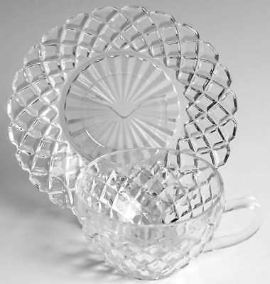 Anchor Hocking WATERFORD CLEAR Cup & Saucer 6717