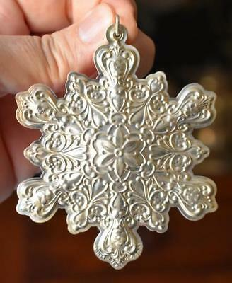 Lovely 2003 Towle Old Master Sterling Silver Snowflake Christmas Tree Ornament