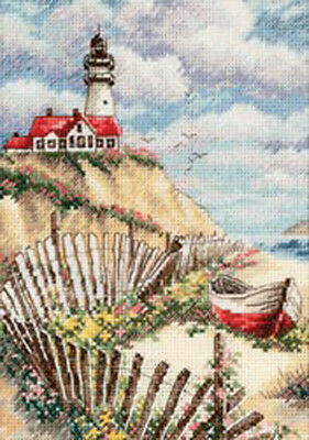 "5""X7"" 18 Count - Gold Petite Cliffside Beacon Counted Cross Stitch Kit"