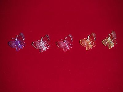 X60 butterfly orchid nursery plant clips decorative medium supports 5 colors