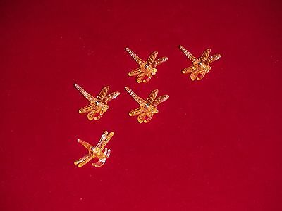 X500 decorative dragonfly orchid nursery plant clips supports orange bag