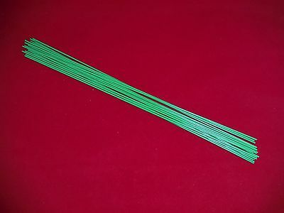"20 heavy duty 18"" inch steel plant nursery orchid stakes green 12 gauge wire"