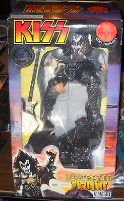 "Rare Gene Simmons Large Cold Cast 14"" Tall The Destroyer Kiss Army Nib Top Shelf"