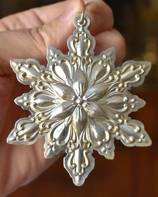 Lovely 2001 Towle 5Th Ed Sterling Silver Snowflake Christmas Tree Ornament